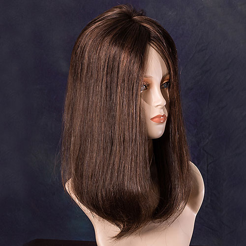 301-F  Top Blend LH (Human Hair,Mono,Wiglet) - Wig Pro Hairpieces