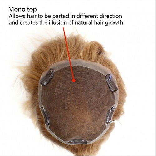 301-T  Top Blend (Human Hair,Mono,Wiglet) - Wig Pro Hairpieces